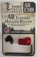 TIMBER CREEK OUTDOORS - ANODIZED RED - EXTENDED MAGAZINE RELEASE - EMR