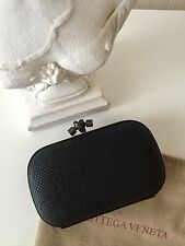 Bottega Veneta knot box clutch leather