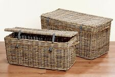 Precious Chest 93cm Wide Model Esa in Grey Brown from Rattan im Provence-style