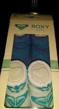 ����SET OF 2 ROXY BABY INFANT GIRL'S BOOTIES PURPLE TURQUOISE WHITE 0-6MONTHS ��