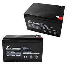 PACK OF 2 12V 12AH Sealed Lead  Acid Battery F2 Terminals for UPS + More!