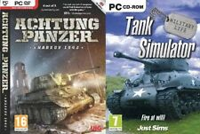Achtung Panzer Kharkov 1943 & tank simulator   new&sealed