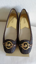 New Michael Kors Fulton brown MK signature shoes.US9.RT$99.