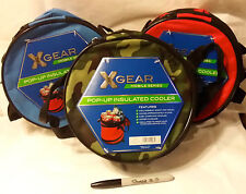 Choose one color(BLUE,RED,CAMO)~XGEAR 14 Can Collapsable Cooler-ship free