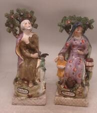 Staffordshire Pottery Pair of Figures - Elijah & The Widow