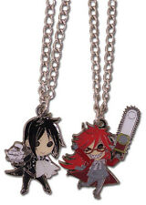 *NEW* Black Butler: Chibi Sebastian & Grell Necklace (Set of 2) by GE Animation