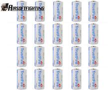 20pcs TrustFire CR123A 1400mAh Lithium Battery 3.0V Non-Rechargeable Batteries