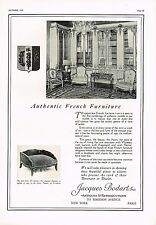 1925 BIG Vintage Jacques Bodart Inc French Furniture Photo Print Ad