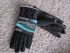 NEW ISOTONER BLACK SMARTOUCH 2.0 GLOVES MENS L LINED  FREE SHIP