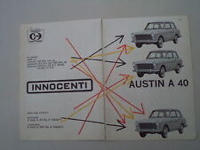 advertising Pubblicità 1960 INNOCENTI AUSTIN A40 A 40