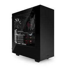 NZXT SOURCE 340 Negro USB 3.0 HD Audio Pc Tower Case ventiladores y ventana lateral Inc