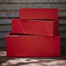 73cm Red Fibrestone Contemporary Trough Planter/Plant Pot/Window Box/Container
