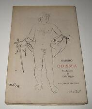 Omero ODISSEA traduzione di Carlo Saggio - Ricciardi Editore 1968