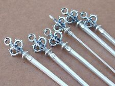 Antique Victorian .800 Sterling Silver Ornate 3D Crown Star Meat Stick Skewer