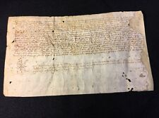 PARCHMENT IN LATIN  ca 1400s