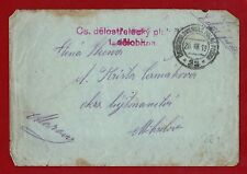 1919 Czechoslovakia ARMY POST letter heavy guns division w. cinderella at back
