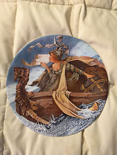 LONGTON CROWN POTTERY THE MAN OF LAW'S TALE CANTERBURY TALES BONE CHINA PLATE