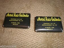 VINTAGE TRAVEL SOAP: HOTEL RUIZ GALINDO FORTIN, VER. Mexico with CREST - 2 Bars