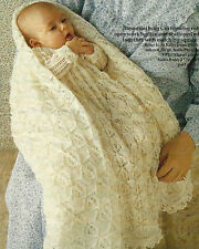 Vintage Heirloom Baby Shawl and Christening Robe Knitting Pattern  3ply  502