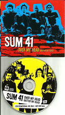 SUM 41 Over My head EUROPE MADE PROMO DJ CD Single USA Seller 2002 MINT