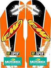 KTM FMF Fork Guard Graphics 01-07 SX EXC 125 200 250 300 380 450 525 stickers