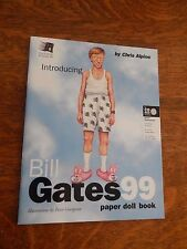 BILL GATES 99 PAPER DOLL BOOK, VERY CLEVER PARODY BOOK OF THE MICROSOFT KING!