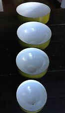 Set Of 4 Danish MCM Copco Michael Lax Design AVOCADO Green Mixing Bowls Enamel