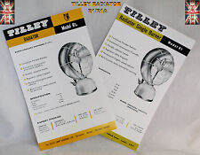 TILLEY LAMP RADIATOR R1 AND R1A SPECIFICATIONS AND SPARE PARTS LIST LEAFLET
