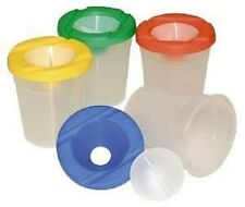 10 Non Spill Paint Pots with Plastic Stoppers