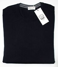 Mens COUNTRY CLUB Italy Dk Navy Extra Fine Wool Crew Jumper Sweater 50 M NWT