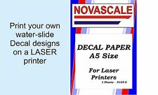 Decal Paper Clear A5Size LASER Print N105-5 (5 Sheets)