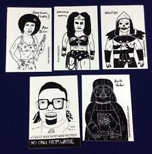 Mark Todd Esther Pearl Watson Sticker LOT(9)Unlovable Darth Vader Skeletor Comic