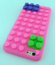 PINK LEGO TOY BLOCKS SOFT SILICONE RUBBER SKIN CASE COVER APPLE IPHONE 6S PLUS