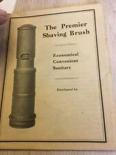 Premier Shaving Brush Early 1900's Negative Lot One Of A Kind Barber Hair Face