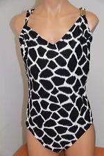 NWT Michael Kors Swimsuit 1 one piece Plus Sz 20W Black White Shelf Bra