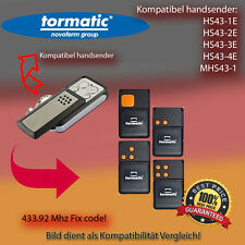 Handsender 433.92MHz für Tormatic HS43-1E,HS43-2E,HS43-3E,HS43-4E,MHS43 Antriebe