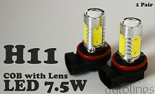 H11 Super Bright 6000K CREE LED Fog Light Bulbs 1 YR Warranty Xenon HID White