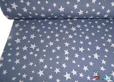 Jersey STERNE grau auf dunkelblau Stern STERNCHEN - cotton knit stars