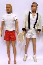 Vintage 191-65 KEN Outfits #780 IN TRAINING & #790 TIME FOR TENNIS