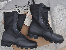US Army GI JUNGLE BOOTS Spike Protective Men's 5 XW Extra Wide Black Cloth Side