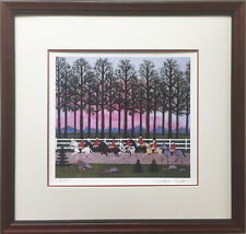 "Jane Wooster Scott ""Foxy Gives em' the slip"" Hand Signed CUSTOM FRAMED ART Horse"