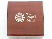 2014 - 2017 Royal Mint Deluxe Wooden Gold Proof Half Sovereign Coin Box Only