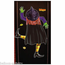 Halloween Comedy Crashed Witch 3D Door Banner Poster Party Decoration