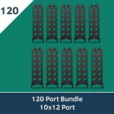 SergeantClip Cable Management Tool - 120 Port Bundle (10 x 12 Port Clips)