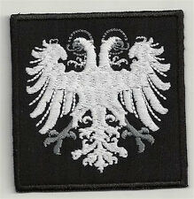 Double head eagle variation 2 - embroidered patch, dimensions 3,2 X 2,4 INCH