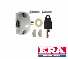 ERA PATIO DOOR LOCK WITH ONE KEY - WHITE FINISH - NEW