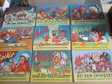 9 Mecki Hörzu Bücher Hammerich und Lesser mit Stoffrücken 50er 60er Jahre