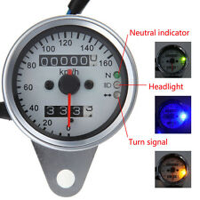 Universal Motorcycle LED Dual Odometer Speedometer Gauge For Harley Davidson New