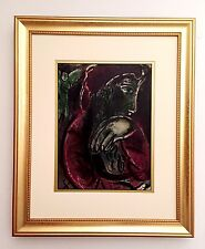 "Marc Chagall 1960 Original Lithograph ""Job in Despair"" M254 Bible Drawings $1800"