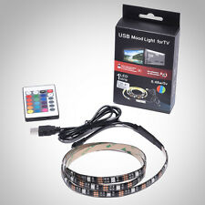 TV Wall RGB LED Strip Light Multi-colour Background Light USB Cable with Control